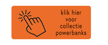 button powerbank oranje